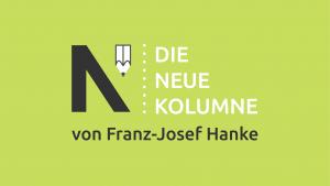 """Das schwarz-weiße Logo von Die Neue Norm. Daneben steht """"Die Neue Kolumne"""". Unten steht: von Franz-Josef Henke."""