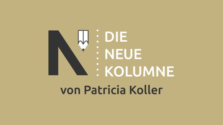 Das Logo von Die Neue Norm auf hellbraunem Grund. Rechts davon steht: Die Neue Kolumne. Unten steht: Von Patricia Koller.