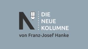 Das Logo von Die Neue Norm auf grauem Grund. Rechts davon steht: Die Neue Kolumne. Unten steht: Von Franz-Josef Hanke.