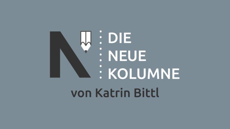Das Logo von Die Neue Norm auf grauem Grund. Rechts davon steht: Die Neue Kolumne. Unten steht: Von Katrin Bittl.
